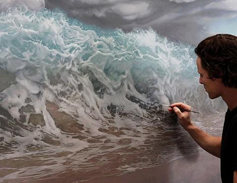 photo-realistic painting