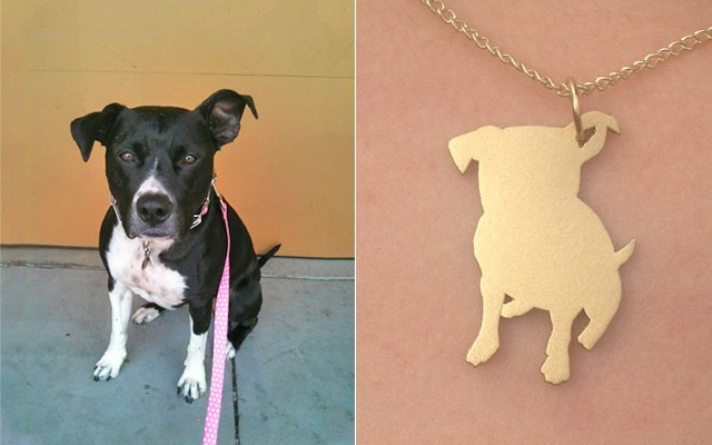 silhouette necklace for your dog 3