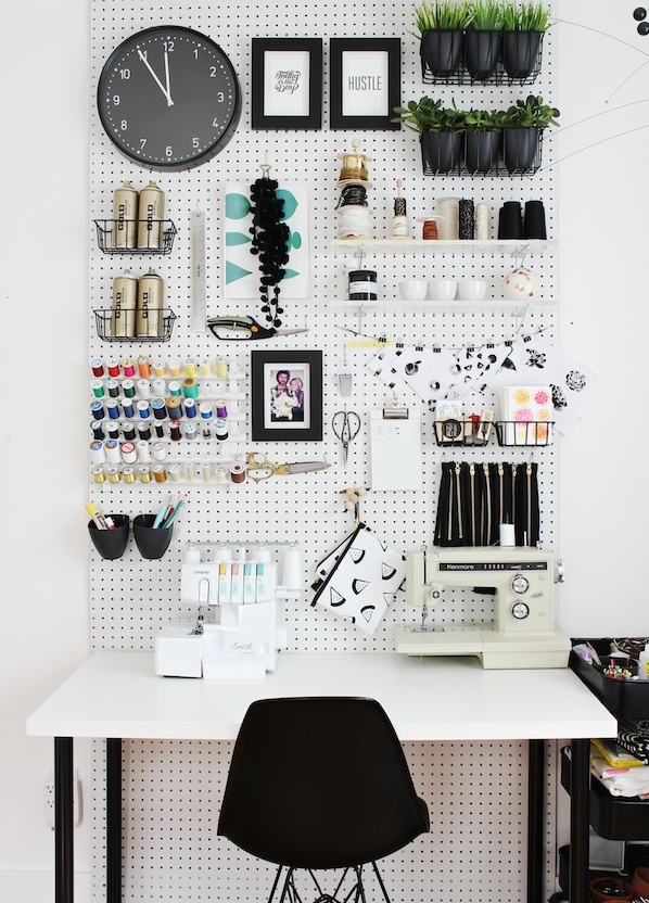 stylish uses for pegboards 7
