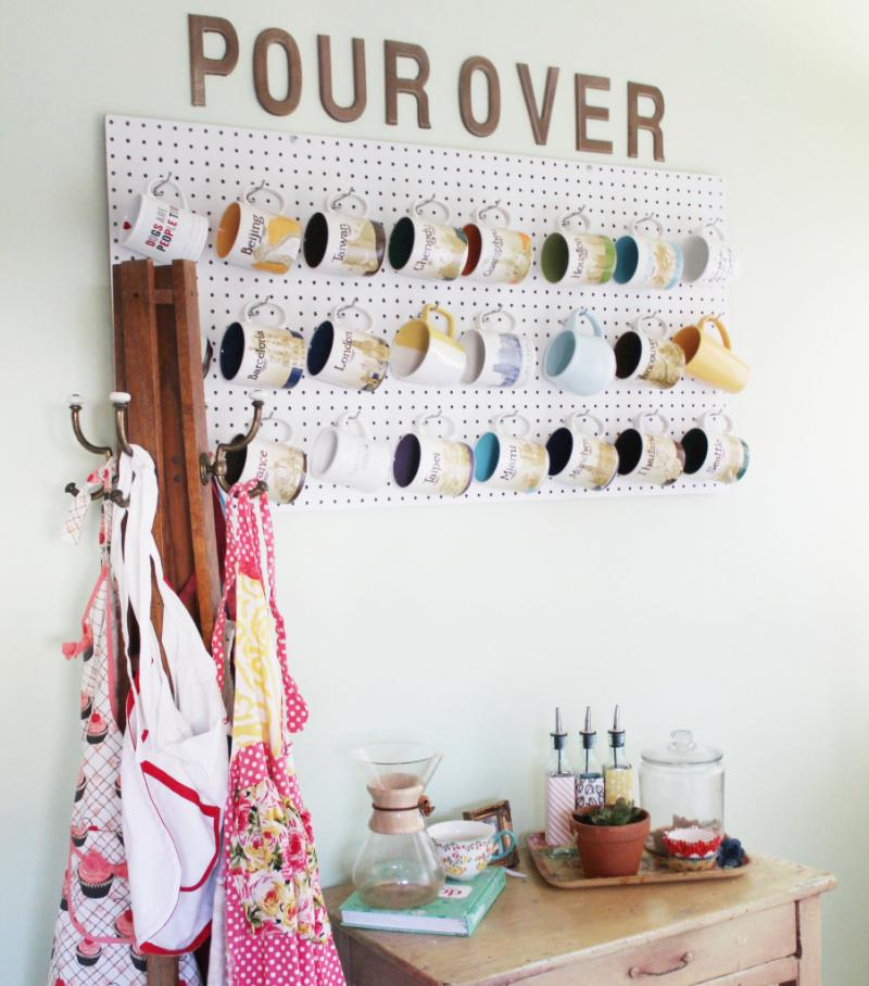 stylish uses for pegboards 9