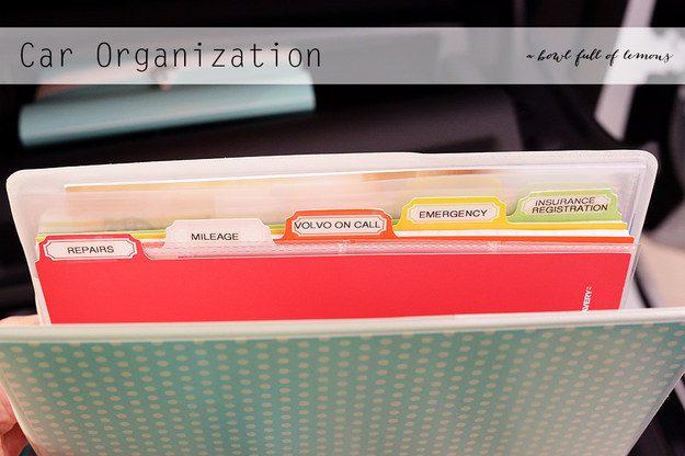 tricks in organizing a car 8