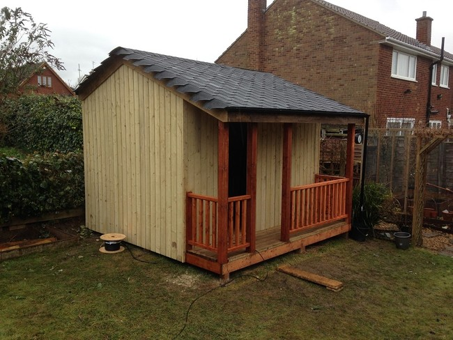 backyard shed movie theater 6