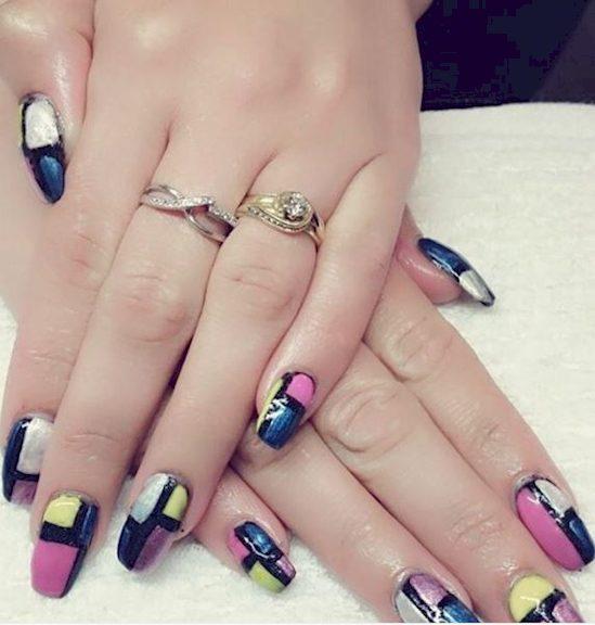 block design nails 14