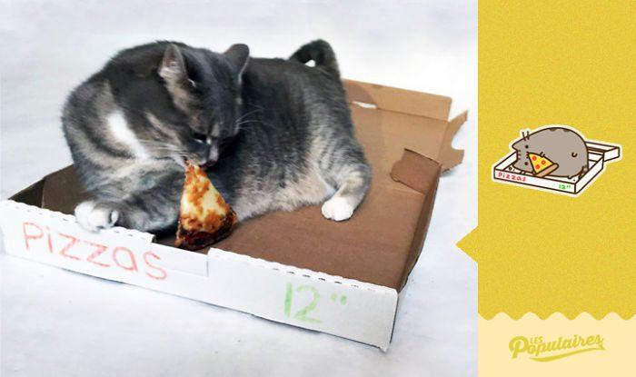 cat recreates pusheen stickers 6