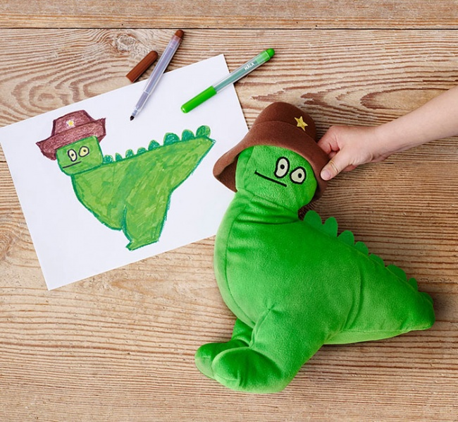 children's drawings into plush toys