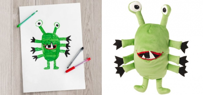 children's drawings into plush toys 4