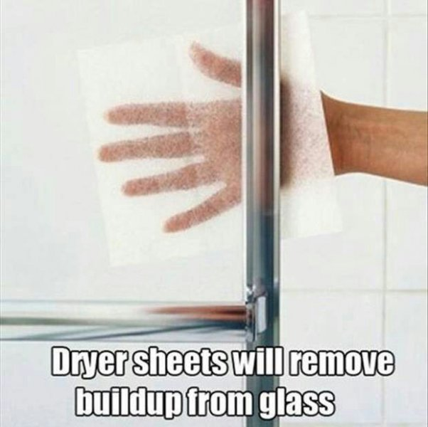 clever uses for dryer sheets 6