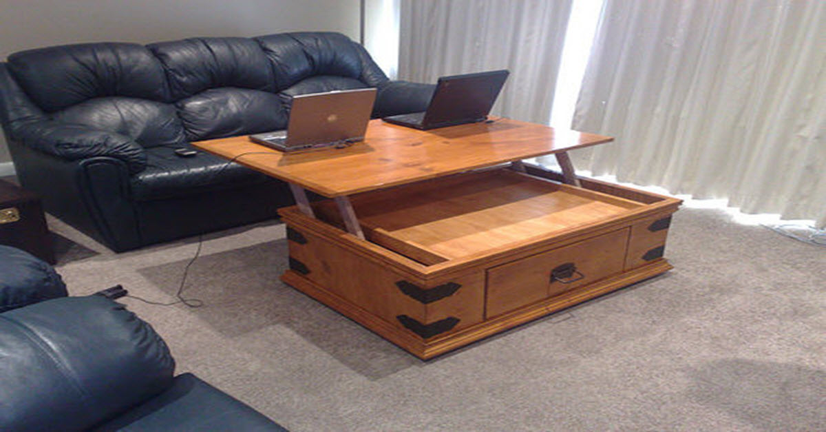 Turn Your Ordinary Coffee Table Into A Brilliant Laptop Desk