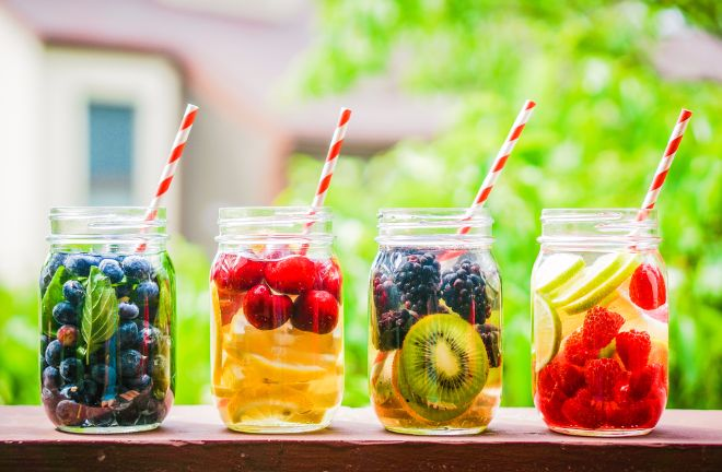 fruit infused water for detox