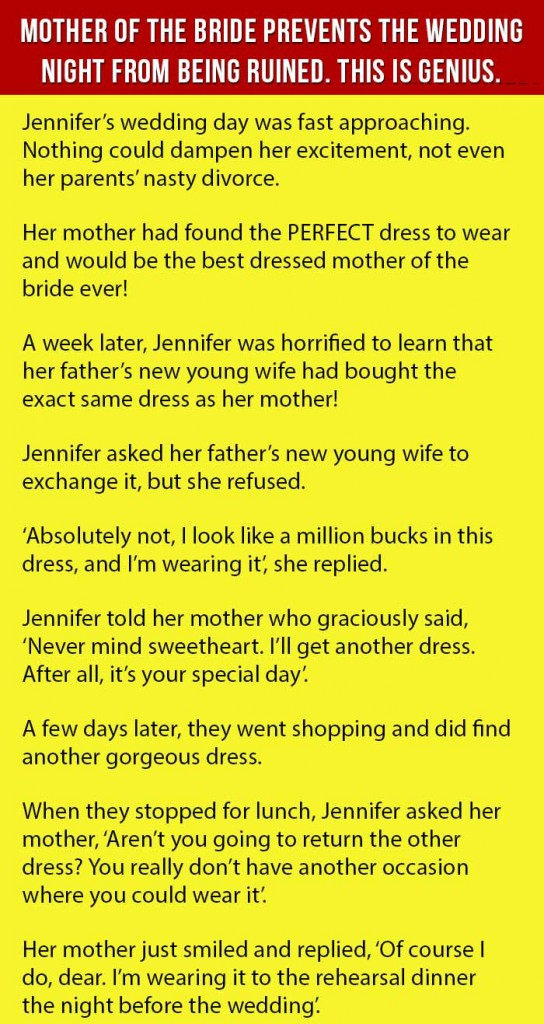 mom prevents the wedding to be ruined 1