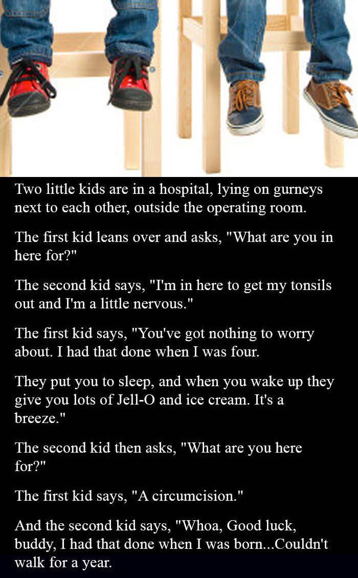 two little kids talking