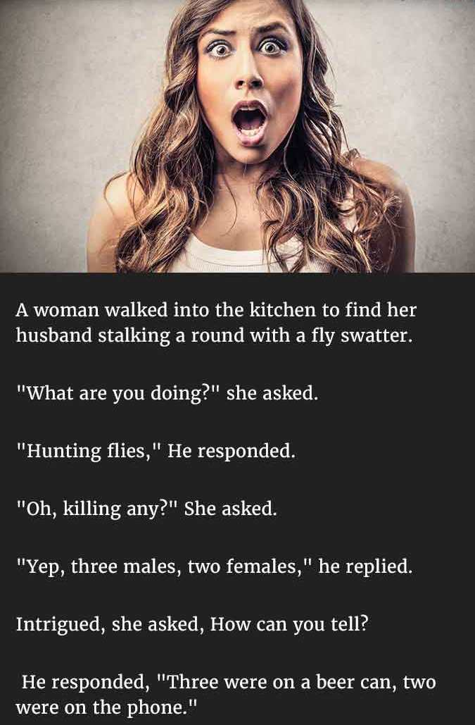 Husband hysterical response1