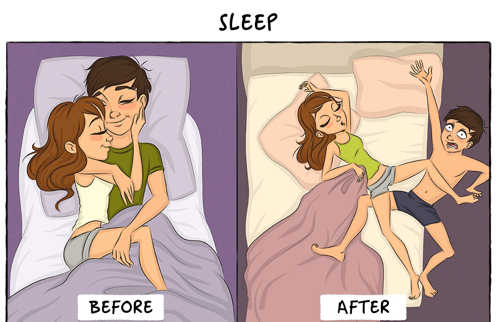 Life before and after marriage2