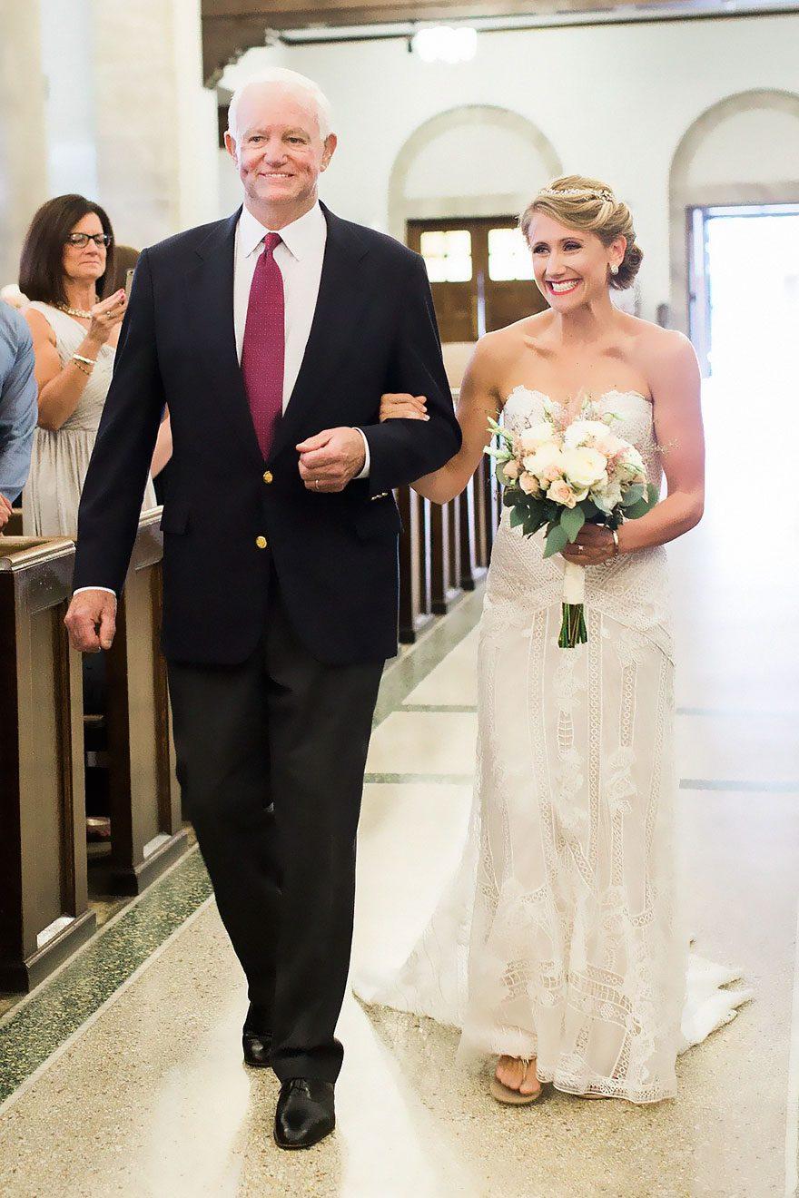 donated dad heart wedding walk
