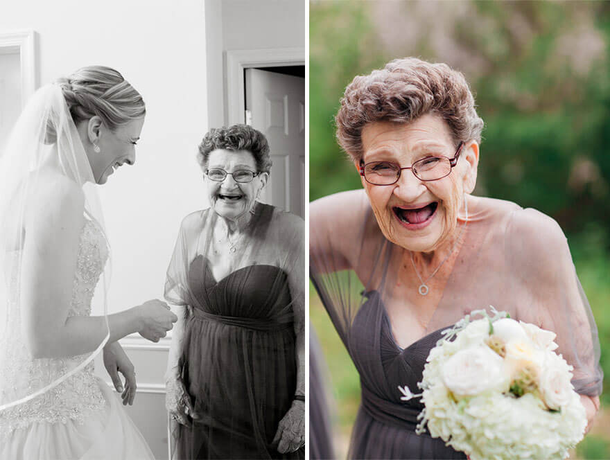 grandma bridesmaid