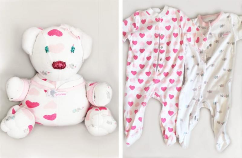 stuffed animals from baby clothes 6
