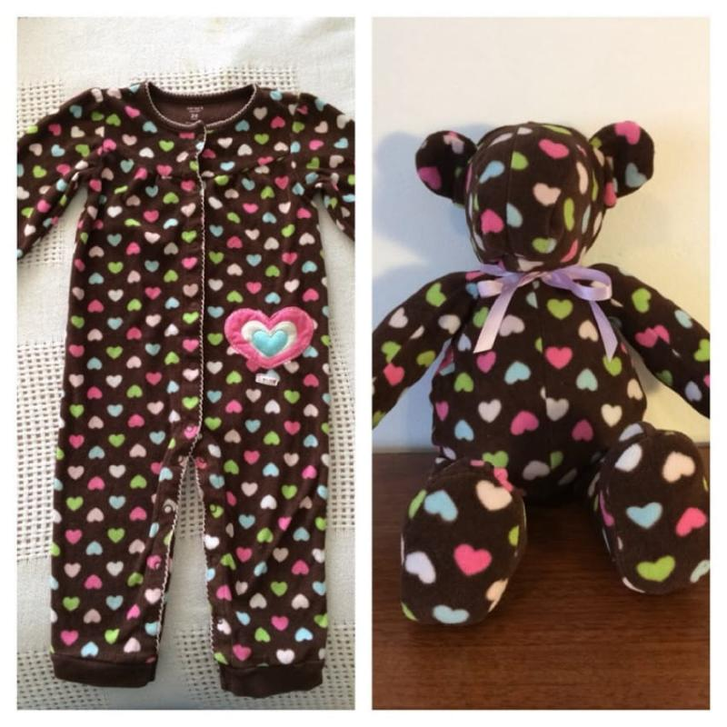 stuffed animals from baby clothes 8