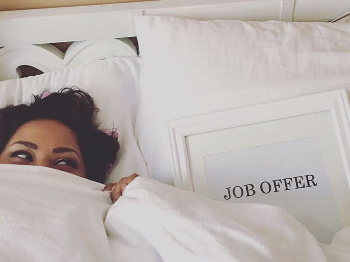 woman engagement photo shoot job offer