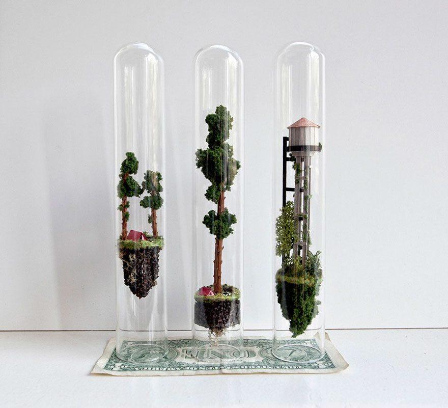 world inside test tubes