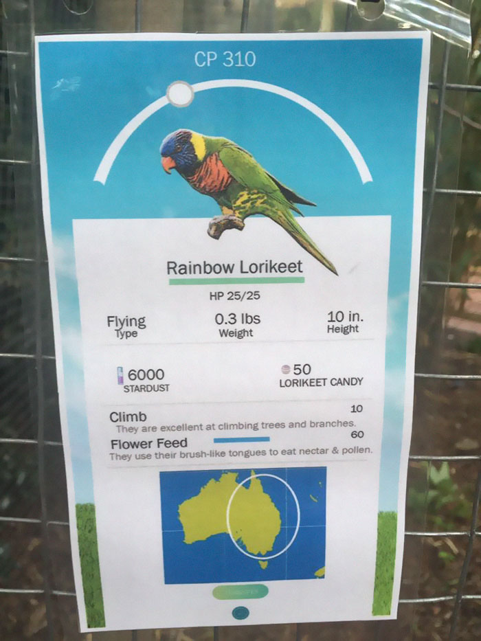 zookeeper adds pokemon go signs