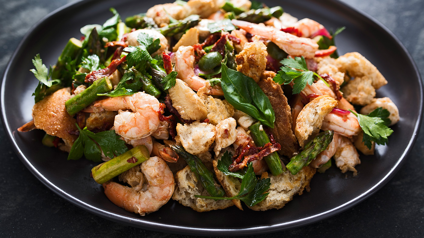 sheet tray shrimp and vegetables