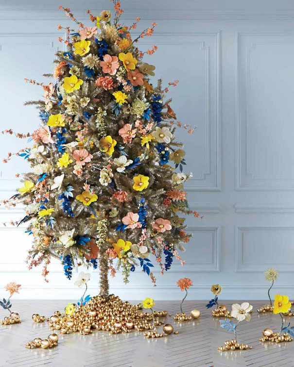 floral christmas tree