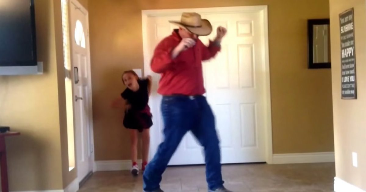 Father And Daughter Work On Dance Routine For Weeks Mom
