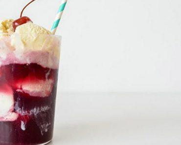 wine ice cream float recipe