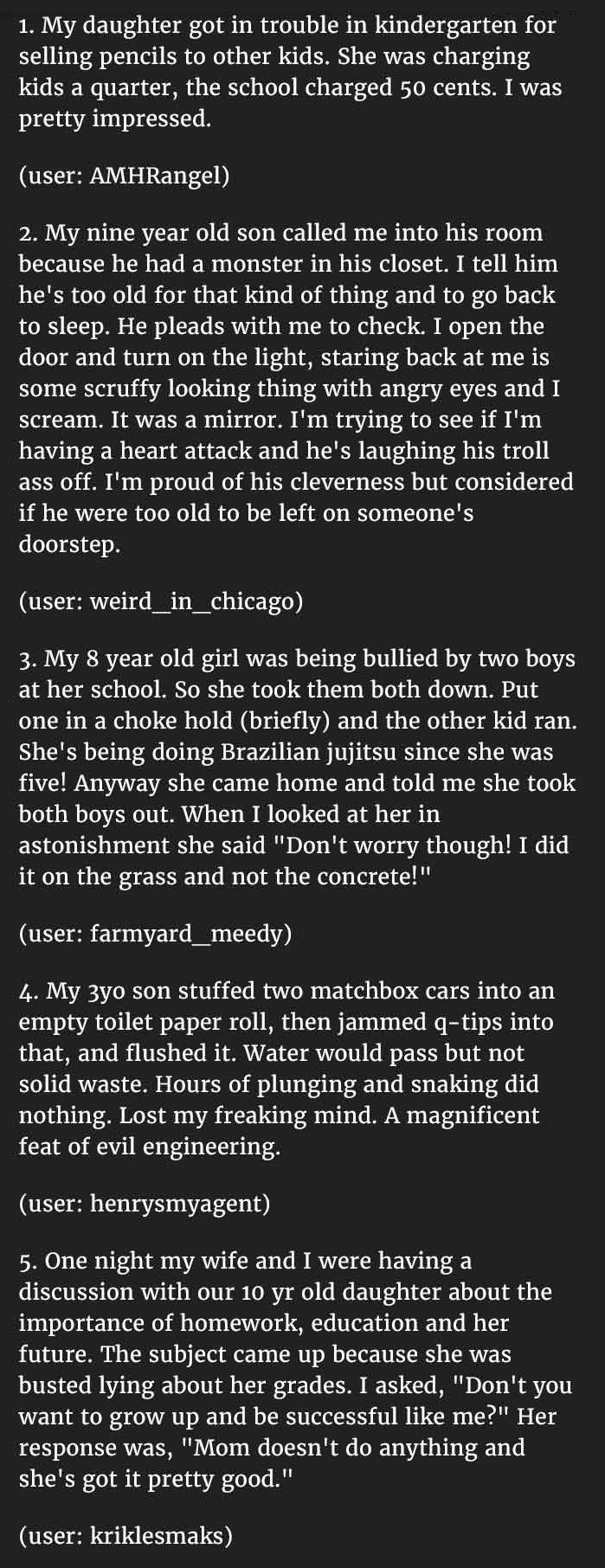 naughty things kids say