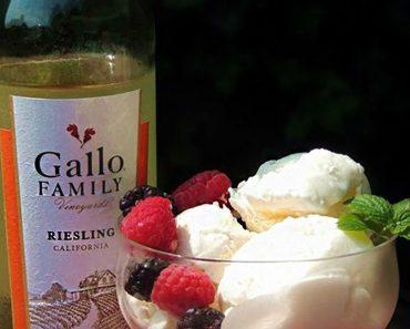 sweet wine ice cream recipe