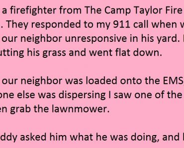 firefighter kind act
