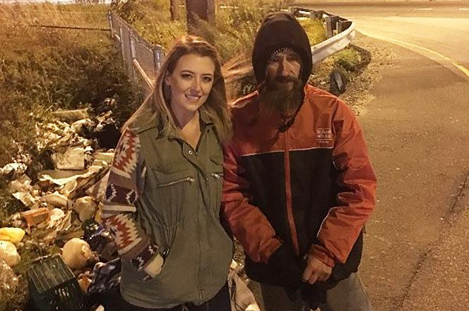 homeless man act of kindness