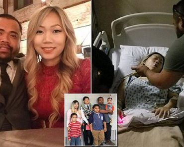 mother shot protecting children