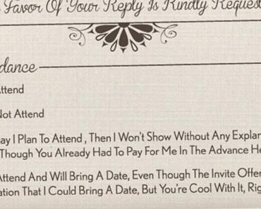 funny wedding invitation