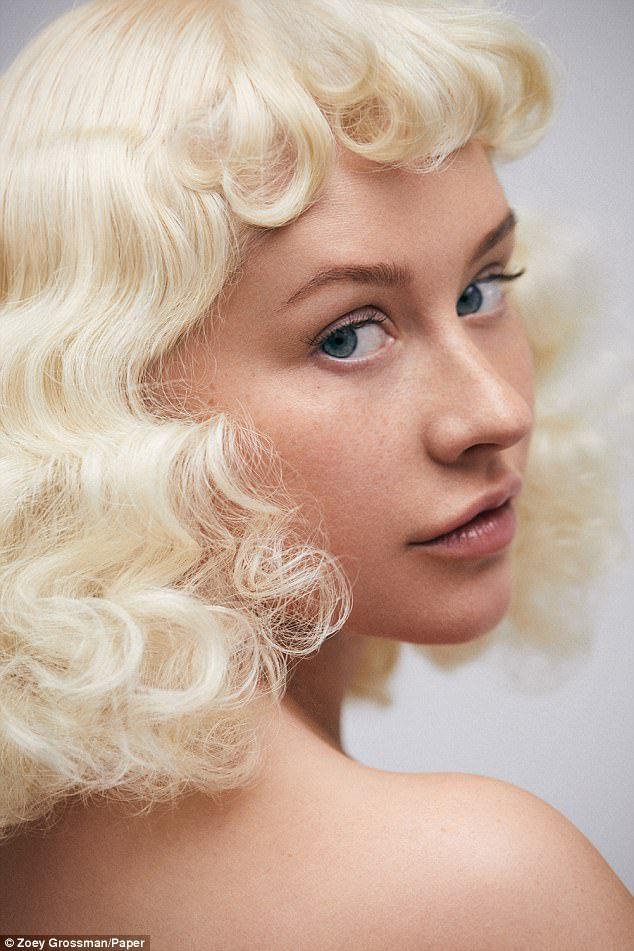 Christina Aguilera paper mag cover