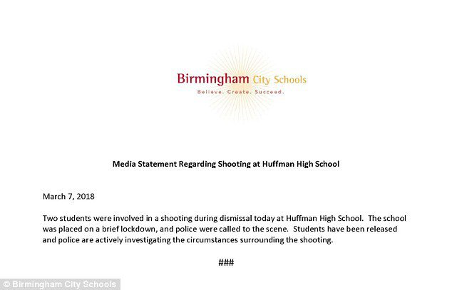 Huffman High School accidental shooting