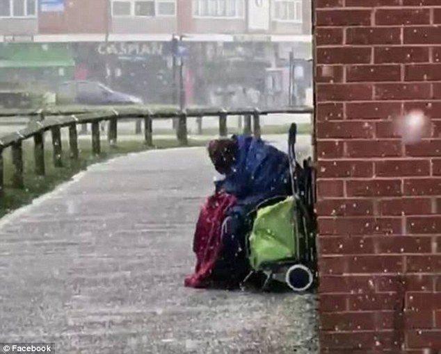 elderly homeless man tesco