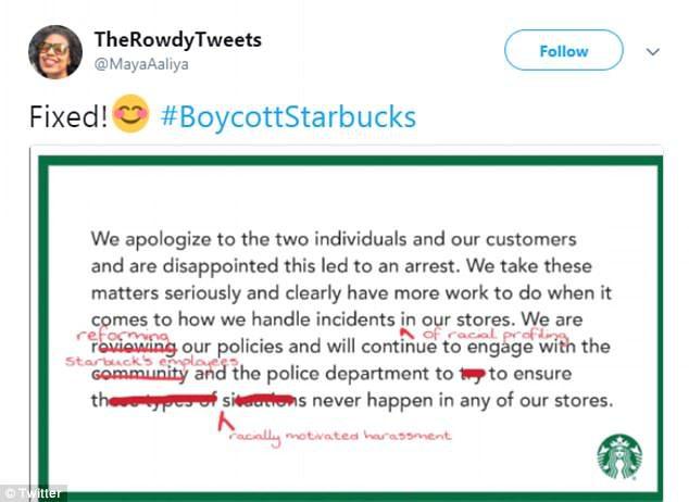 Starbucks boycott