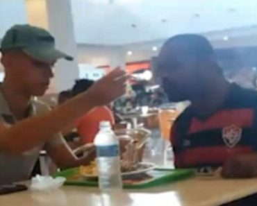 fast food worker feed disabled man