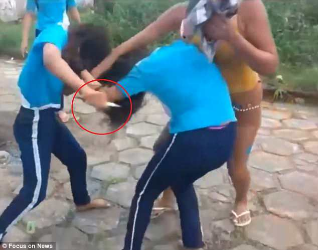 Brazil brutal school fight
