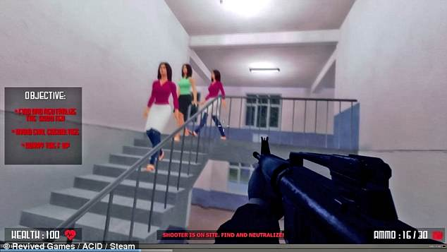 active shooter video game backlash