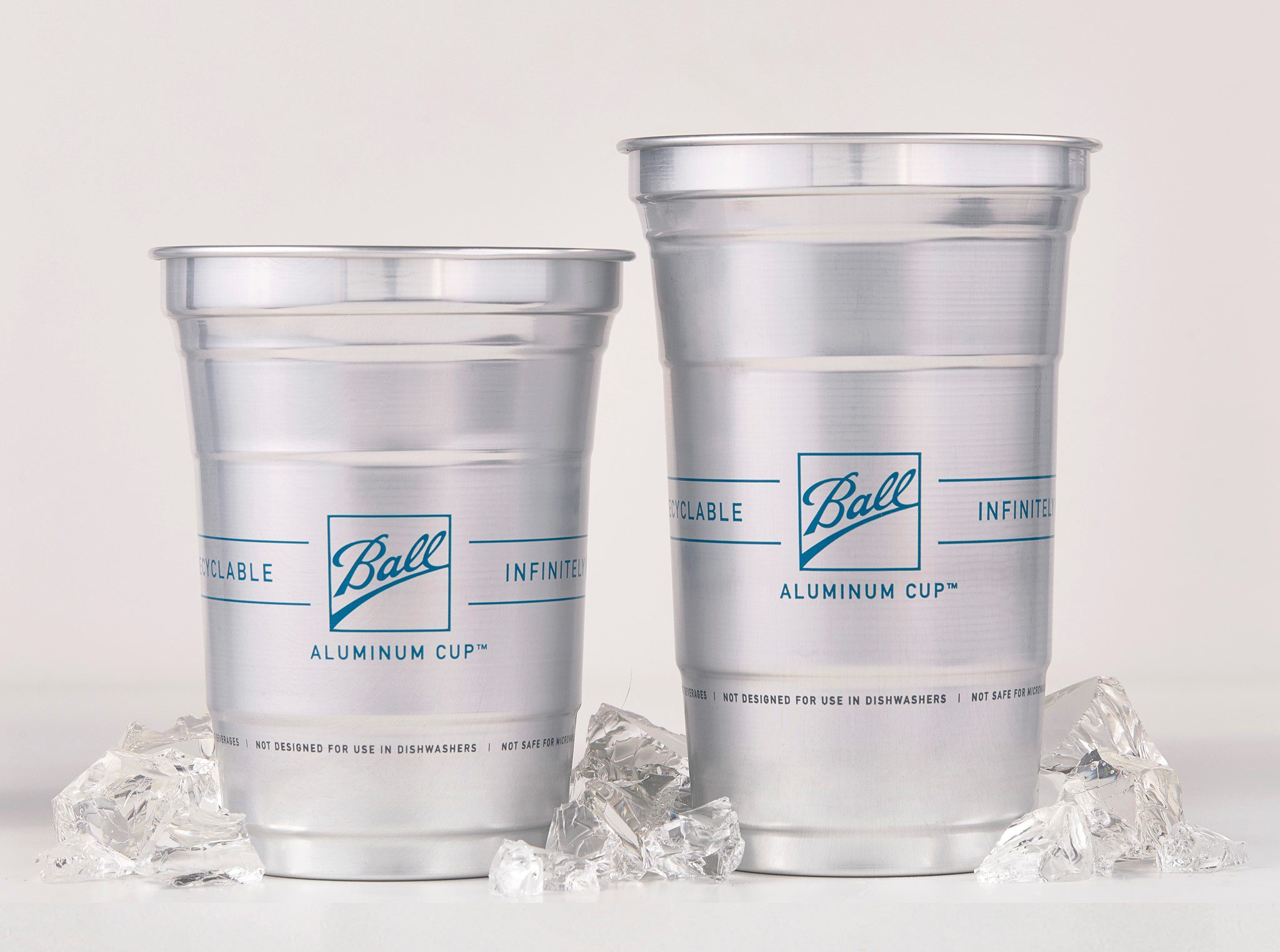 recyclable aluminum cups